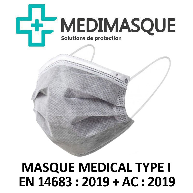 Masque chirurgical gris MEDIMASQUE