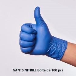 Gants nitrile bleu (100...