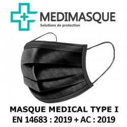 Medimasque Masque noir chirurgical